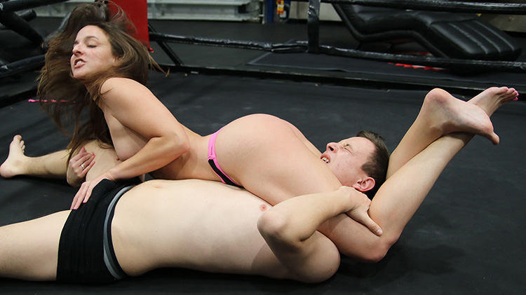 THE RING OF SEX - BOUT #7 - GRAB HIS BALLS, USE YOUR FEET!